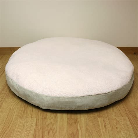 round bed pillows xxl extra large circular fleece dog pet bed round cushion