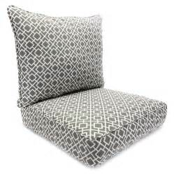 shop manufacturing poet gray seat patio chair cushion at lowes