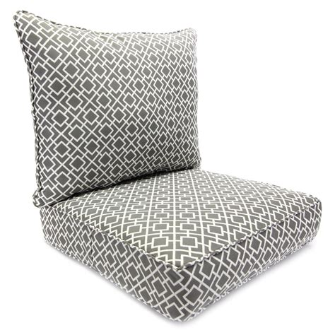Outside Cushions Patio Furniture Shop Manufacturing Poet Gray Seat Patio Chair Cushion At Lowes