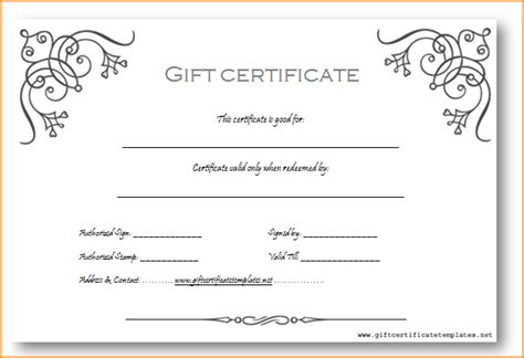 sle gift certificate templates 28 images printable