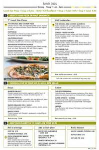 menu for california pizza kitchen town center at boca