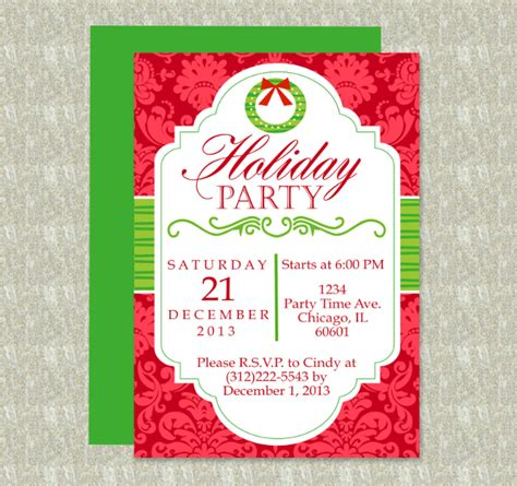 word templates for holiday invitations 11 free download holiday templates in microsoft word