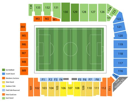 sporting park seating sporting park seating chart and tickets formerly