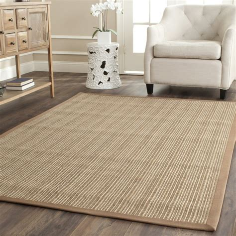 Floor Rugs by Safavieh Fiber Beige Sisal Rug 8 Square