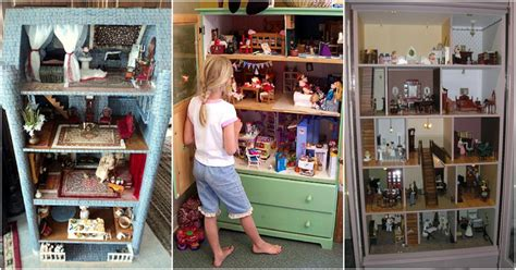 adorable ways  repurpose  dressers  dollhouses