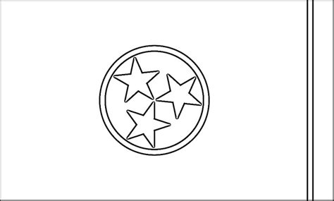 Tennessee State Flag Coloring Page tennessee flag coloring page purple