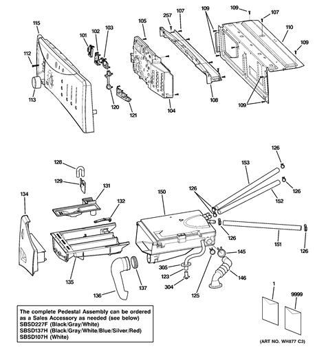 ge profile washer parts diagram ge washer tub motor parts model wbvh5200j1ww