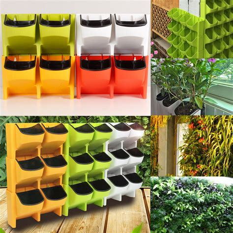 self watering wall planters 2 pocket vertical wall planter self watering hanging