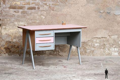 bureau vintage enfant bureau vintage 3 tiroirs et gris pieds compas