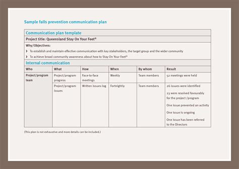 template for communications plan strategic communication plan template images