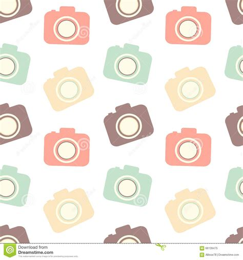 pattern background camera stock vector cute colorful flat camera seamless pattern