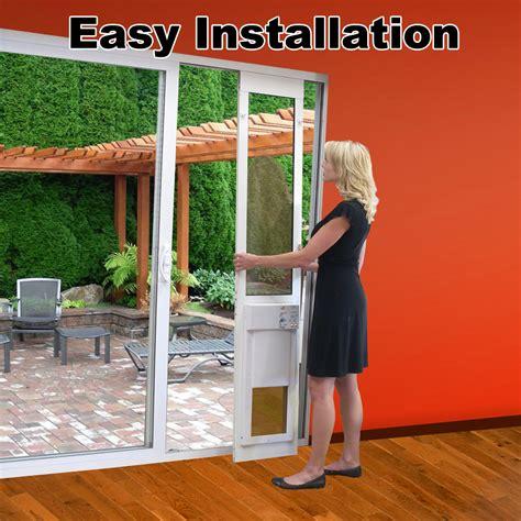 Patio Pet Doors For Sliding Glass Doors Fully Automatic Pet Doors Adapted For Sliding Glass Doors