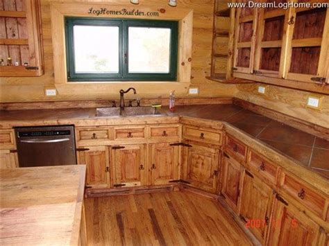 kitchen cabinets cabin in the woods