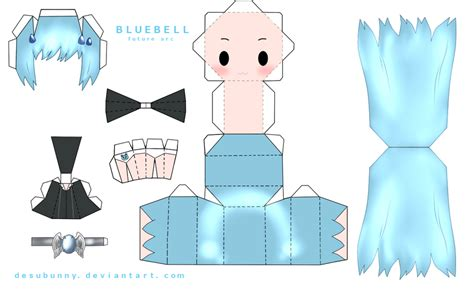 Anime Papercraft Template - paper crafts anime templates and