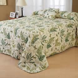 Twin Xl Coverlet New Twin Full Queen King Plants Fern Butterfly Bedspread