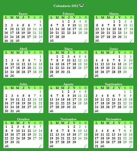 El Calendario 2012 Calendario 2012 All2need