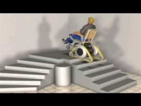 Stair Climbing Chair Galileo Stair Climbing Wheelchair Youtube