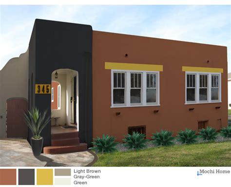 earthy  warm exterior paint colors  sunny suburban
