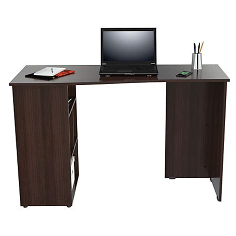 Office Depot Writing Desk Inval Curved Top Writing Desk 29 18 H X 47 14 W X 20 D Espresso Wengue By Office Depot Officemax
