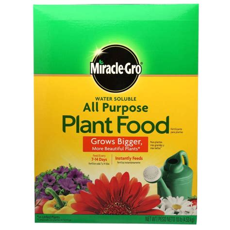 all flower food miracle gro 10 lb water soluble all purpose plant food 1001192 the home depot
