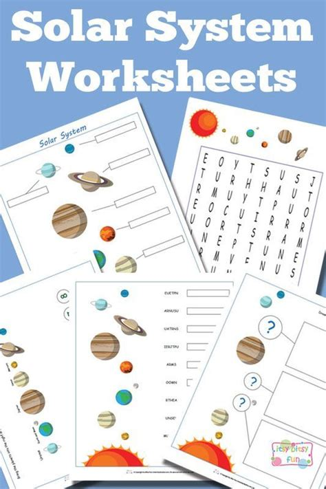 Solar System For Kindergarten Worksheets by 1000 Ideas About Solar System Crafts On The