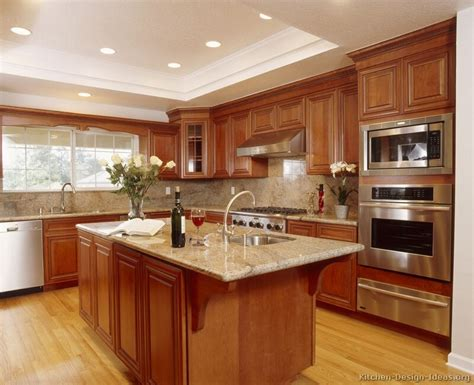 Brown Kitchens Designs Pictures Of Kitchens Traditional Medium Wood Cabinets Golden Brown Page 2