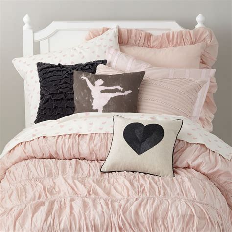heart comforter girls bedding sheets duvets pillows the land of nod