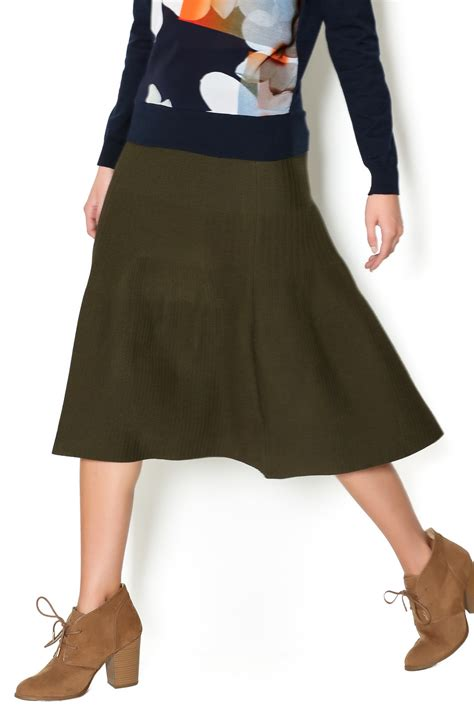 yal ny a line knit flared skirt from new york by s