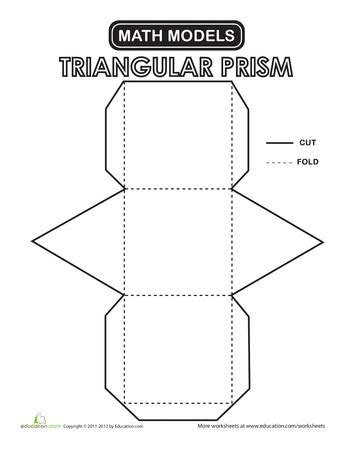 printable math worksheets volume of triangular prism triangular prism worksheets math and school