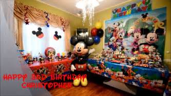 christopher mickey mouse birthday party