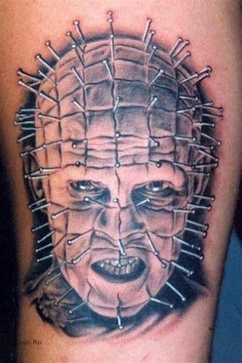 pinhead tattoo 42 unique horror tattoos