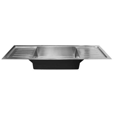 stainless steel sink with drainboard 72 quot trenton stainless steel sink with dual drain