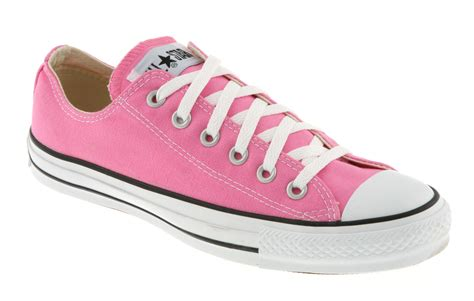 converse chuck all ox low pink canvas trainer