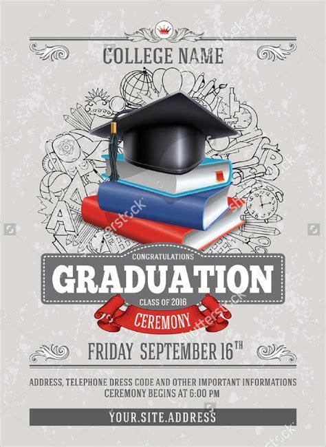 graduation ceremony invitation template sle graduation invitations free premium templates