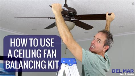 how to balance a ceiling fan how to use a ceiling fan balancing kit youtube