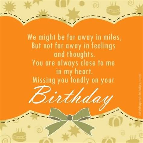 Birthday Quotes For Who Away Best Birthday Wishes And Messages From Far Away Happy