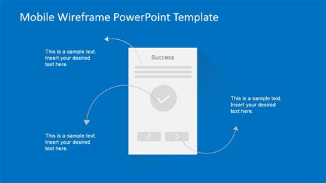 Mobile Wireframe Powerpoint Template Slidemodel Powerpoint Wireframe Template