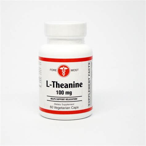 supplement l theanine l theanine 60 capsules