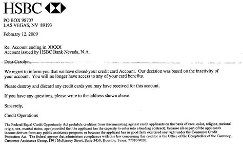 Letter To Credit Card Company Closing Account Credit Card Industry Can Cancel Your Credit Card And Lie About It
