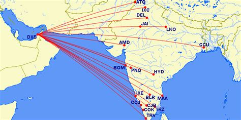 flight route map from india to usa dubai to india flights