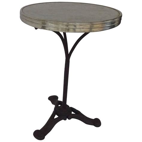 Metal Bistro Table Gilt Metal Mounted Marble And Cast Iron Bistro Table For Sale At 1stdibs
