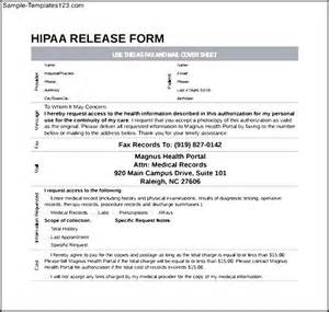 simple hipaa release form sle templates
