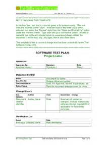 Sle Test Strategy Document Template by 02 Software Test Plan Template