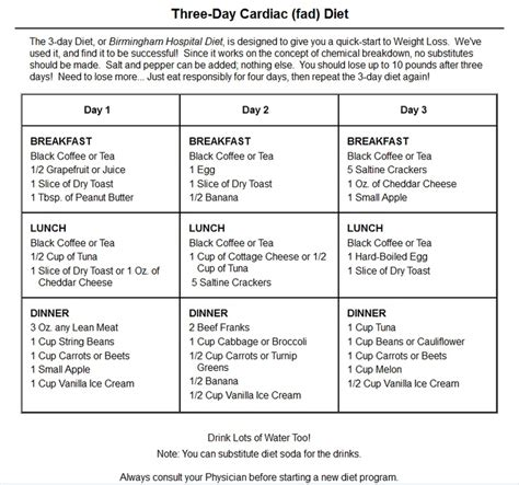 printable diet menu plans diet menu 3 day diet plan menu