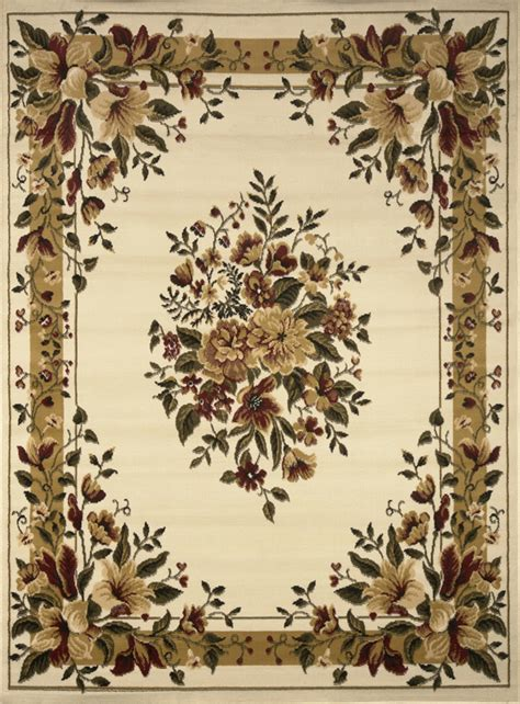 Transitional Floral Area Rug 8x11 Casual Vines Scrolls 8x11 Area Rugs