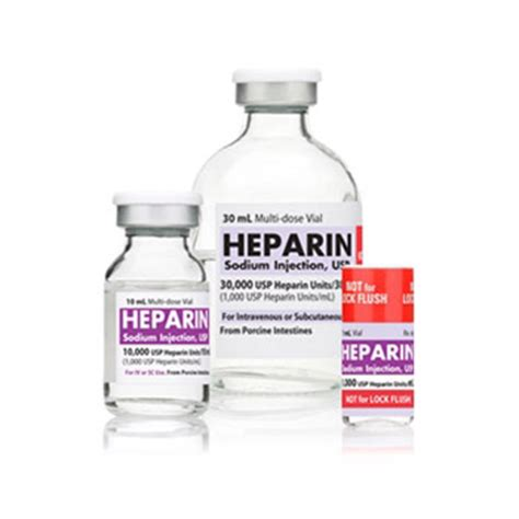 Inviclot Heparin Sodium Injection heparin sodium injection usp 5 000 units ml 1 x 25 x 1ml merit pharmaceuticals