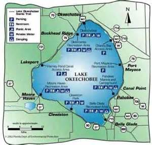lake okeechobee florida map lake okeechobee florida go fishing