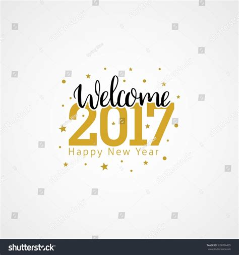 welcome 2017 creative numbers happy new stock vector