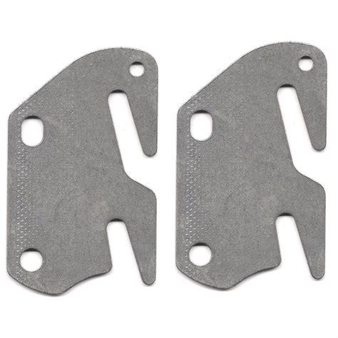 Bed Frame Hook Plates 2 Bed Rail Hook Plates Fits 2 Quot Bracket Or Bed Post Flat 13 Ga Steel Made In Usa
