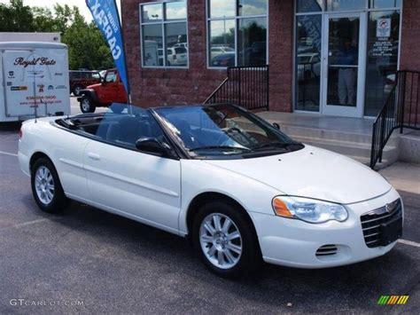 chrysler sebring colors 2005 white chrysler sebring gtc convertible